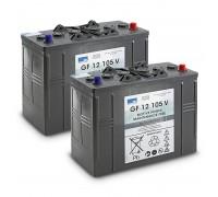 Комплект АКБ Gel 2x 12V/105Ah, 24 V, 105 Ah