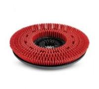 Дисковая щетка, средней жесткости, красная, 300 mm